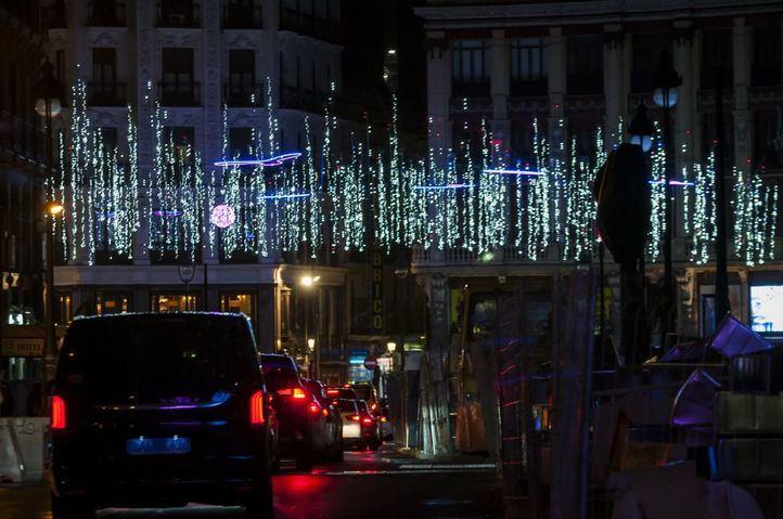 Tráfico en Navidad.