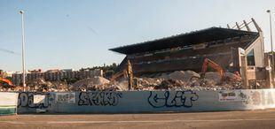 Obras de demolición del Vicente Calderón.
