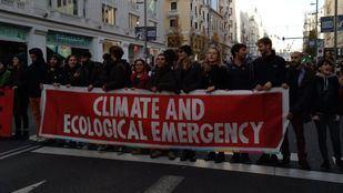 Manifestación por el clima en Gran Vía
