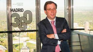 El alcalde de Madrid, José Luis Martínez-Almeida, en la presentación del plan medioambiental Madrid 360.