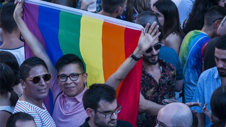 Pregón del Orgullo LGTBi 2019 en la Plaza de Pedro Zerolo.