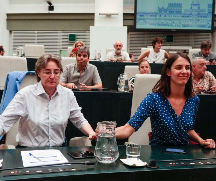 Marta Higueras y Rita Maestre, concejalas de Más Madrid.