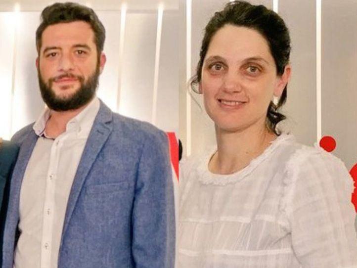 Los diputados Pilar Sánchez Acera y César Zafra, esta tarde en Onda Madrid