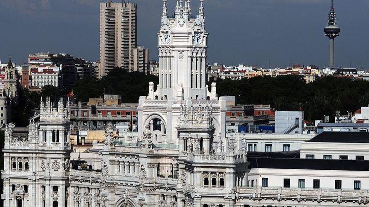 El Ayuntamiento de Madrid, en Cibeles, visto desde el CBA.