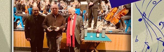 Cartel del concierto solidario de Mensajeros de la Paz y la Joven Orquesta del Conservatorio de Arturo Soria