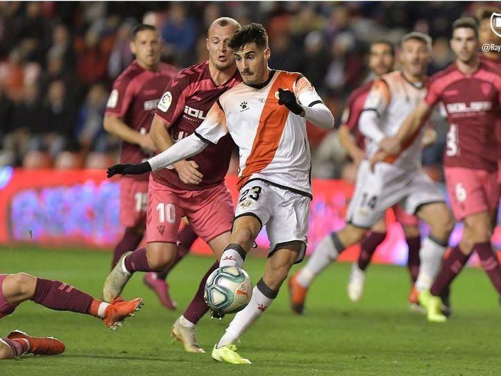 Zozulia, en un lance de la primera mitad en Vallecas