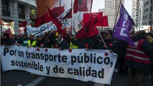 Manifestación de los trabajadores de la EMT del pasado viernes 13 de diciembre