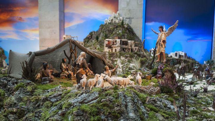 Vista en detalle de una de las escenas representadas en el Belén de la Comunidad