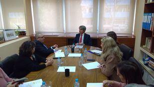 El consejero de Transportes, Movilidad e Infraestructuras, Ángel Garrido, se reúne con Cermi Comunidad de Madrid.