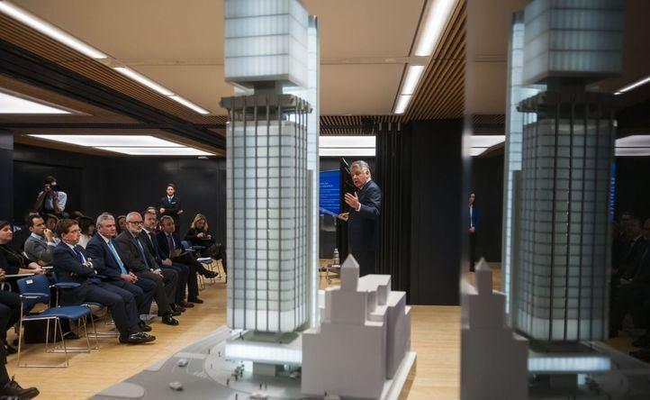 Ignacio Garralda, presidente de Mutua, presenta el proyecto de reforma de las Torres Colón.