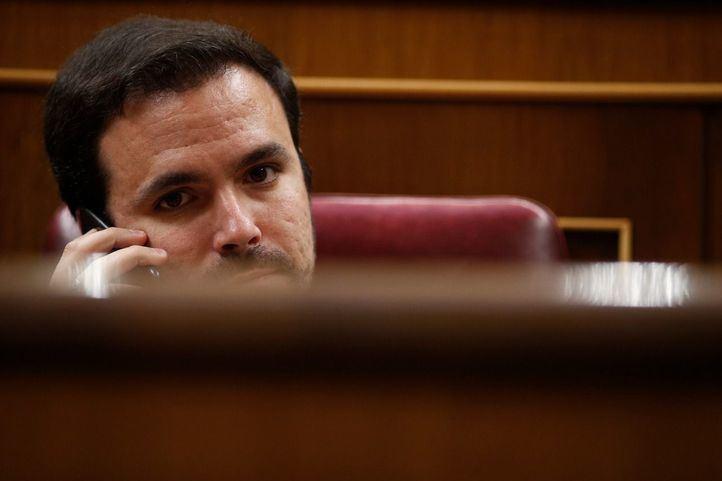 El secretario general de IU, Alberto Garzón.