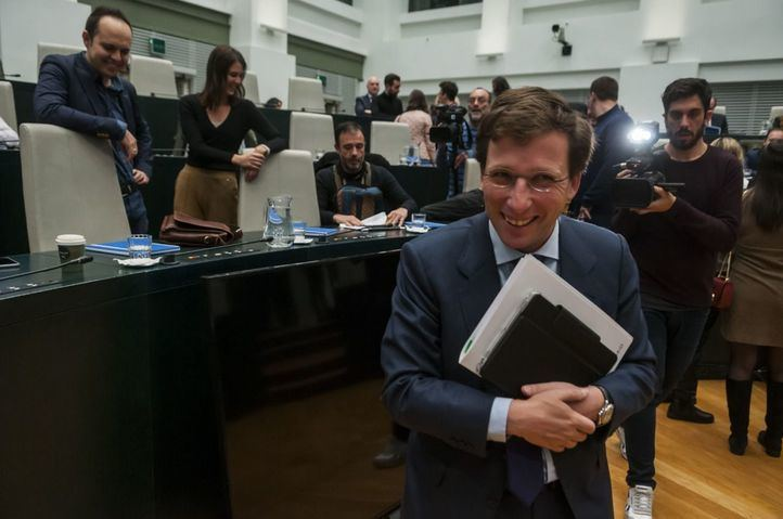 Almeida, en el Pleno de hoy.