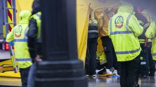Fallece la mujer que recibió el golpe de un cascote en la cabeza en la calle Alcalá