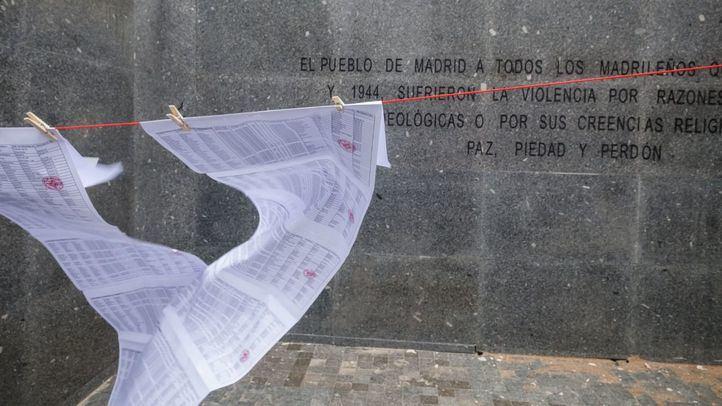 Contra el desmantelamiento del monumento memorial en el cementerio del Este de Madrid