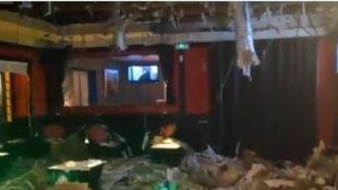 El temporal, posible causante del derrumbe de un falso techo en un local de copas de Aranjuez