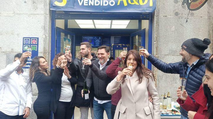 El tercer premio de la Lotería de Navidad ha caído en Madrid y Parla