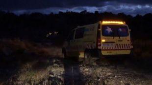 Los servicios de emergencias, en Valdemanco
