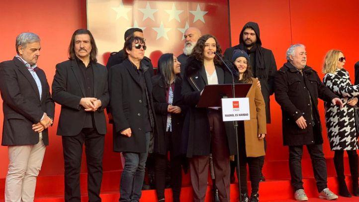 La presidenta de la Comunidad de Madrid, Isabel Díaz Ayuso, durante la presentación del videoclip 'Madrid es Navidad'