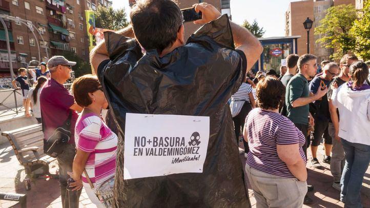 Manifestacion de vecinos contra la incineradora de Valdemingómez, en una imagen de archivo.