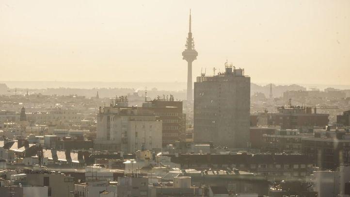 Boina de contaminación en Madrid.