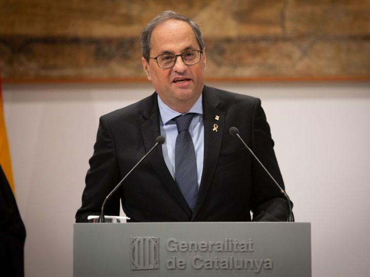 Quim Torra, ya 'expresident' de la 'Generalitat' de Cataluña.