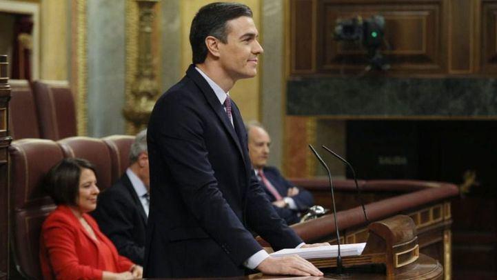 Pedro Sánchez, durante el debate de investidura