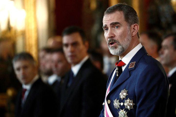 El Rey, en su intervención en la Pascua Militar.