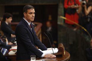 Sánchez, durante su intervención