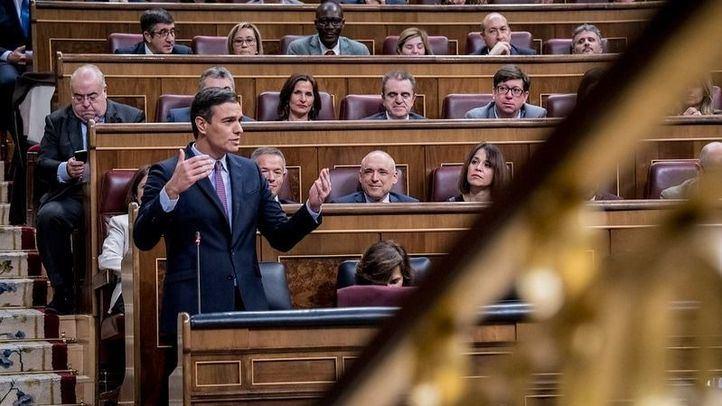 Pedro Sánchez en el Congreso de los Diputados.