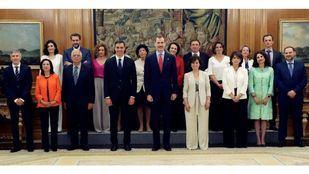 Juan Carlos Campo Moreno, ministro de Justicia, Carolina Darias, ministra de Política Territorial y Rodríguez Uribes de Cultura