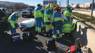 Herido de gravedad al ser atropellado cuando salió de su coche por una avería