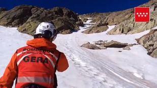 Rescate del GERA cerca de la cima de Peñalara