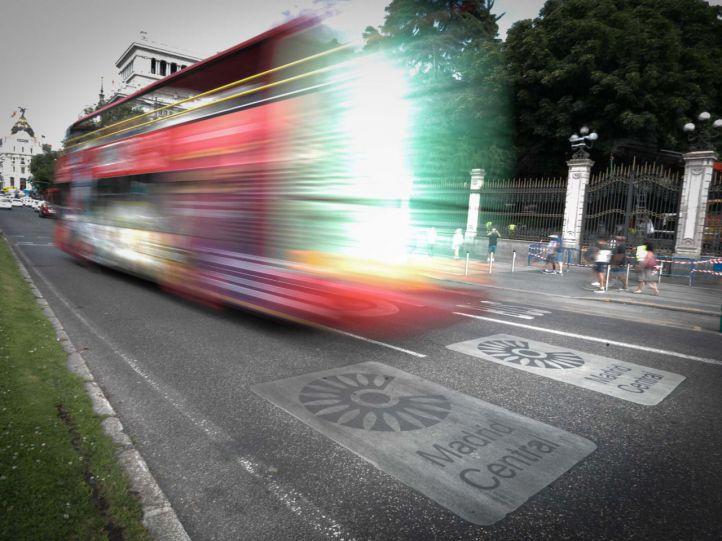 Los buses gratuitos que atravesarán Madrid Central, a partir de febrero
