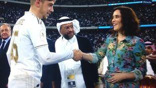 Isabel Díaz Ayuso, en el partido de la Supercopa de España en Arabia Saudí
