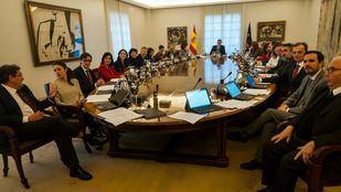 Primera reunión del Consejo de Ministros del Gobierno de coalición de Podemos y PSOE.