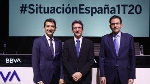 Jorge Sicilia, Rafael Doménech y Miguel Cardoso en la presentación de Situación España.