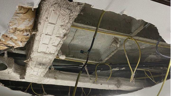 Cae parte del techo de un laboratorio de la Fundación de Investigación del Ramón y Cajal
