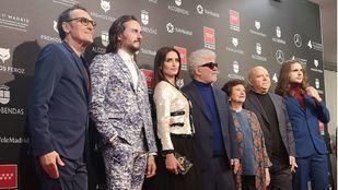 El reparto de 'Dolor y gloria', gran vencedora de los Premios Feroz.