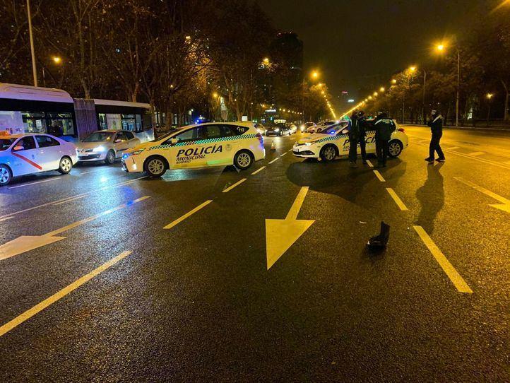 El tráfico ha tenido que ser regulado por el accidente durante una hora