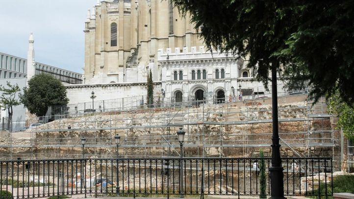 Foto de archivo de los trabajos de mejora que se llevaron a cabo en la muralla en 2015