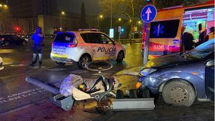 Un coche pierde el control y atropella a una pareja y a sus dos hijos pequeños