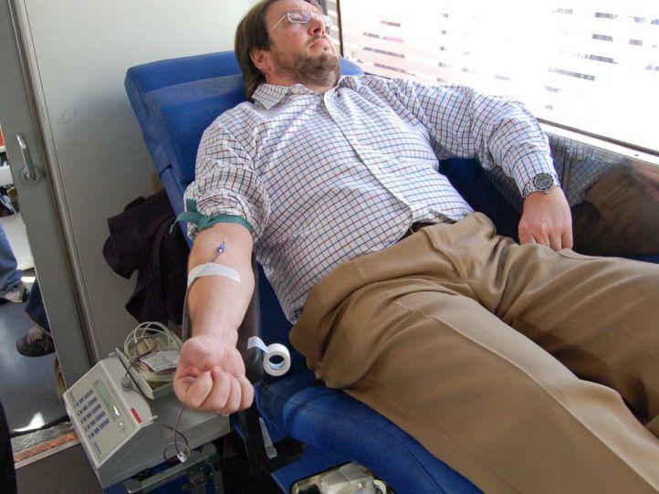 Autobus para donacion de sangre