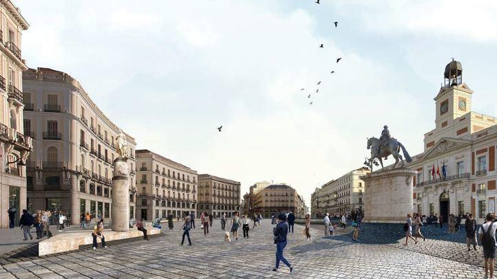 Almeida recupera un proyecto de Botella para peatonalizar Sol en 2021