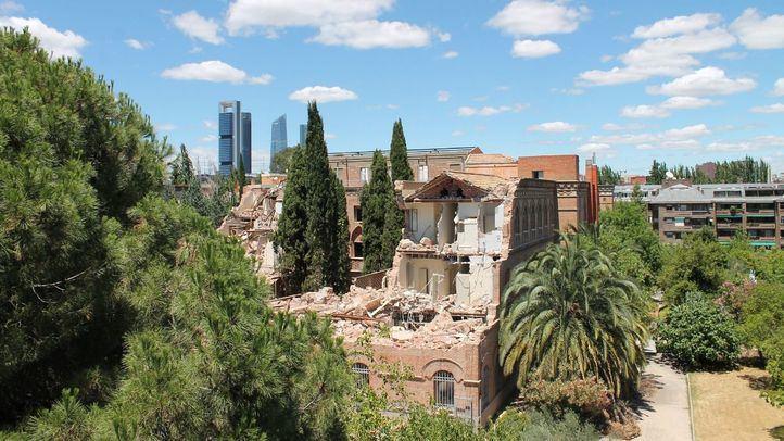 Vista parcial de la parte demolida del Convento de las Damas Apostólicas.