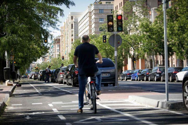 Las obras del carril bici de la Castellana, prevista para 2021