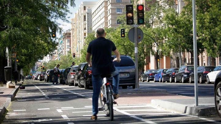 Carril bici de la calle Santa Engracia.