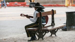 Músico callejero.