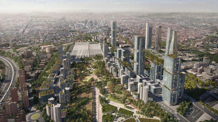 Recreaciones virtuales del proyecto Madrid Nuevo Norte