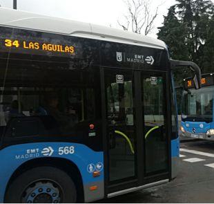 Baile de buses: la EMT refuerza la criticada línea 34 y rebaja la 'ocupada' 27