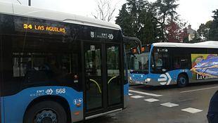 Autobús de la línea 34 de la EMT.